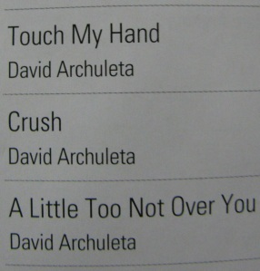 Singapore Airlines' David Archuleta playlist